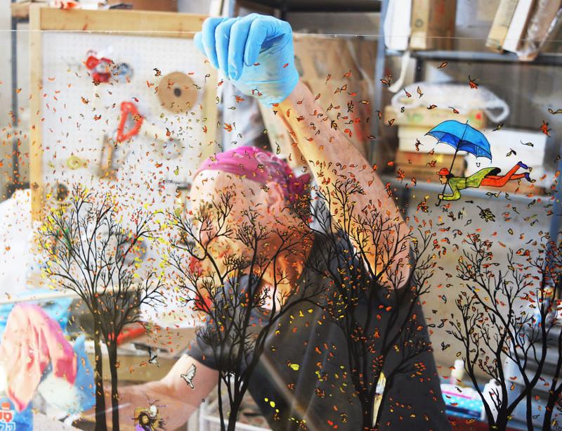 Объемные картины на стекле Жан-Пьера Вайля (18фото)