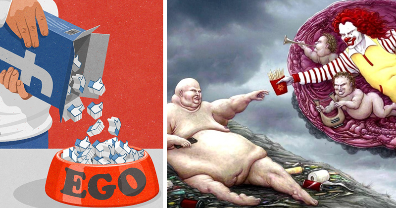 Жестокая реальность в иллюстрациях Джона Холкрофта (41фото)