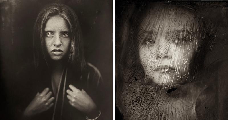 Мрачные портреты детей, созданные в технике XIX века (57фото)