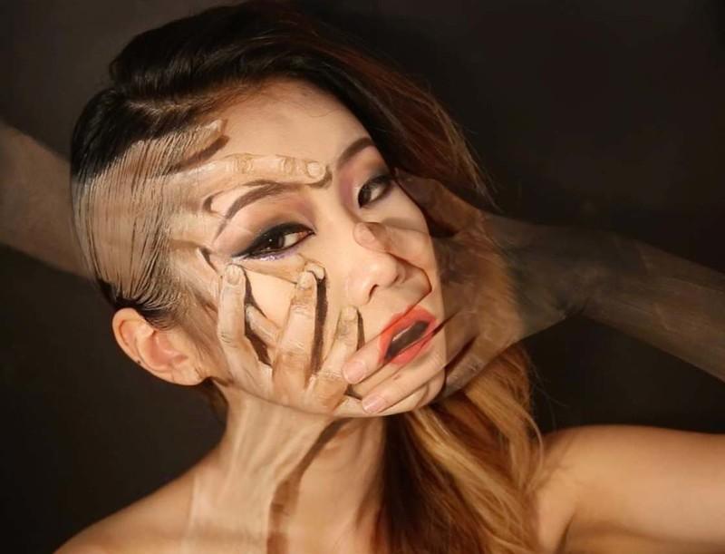Макияж-иллюзия от корейской художницы, на который хочется взглянуть дважды (20фото)