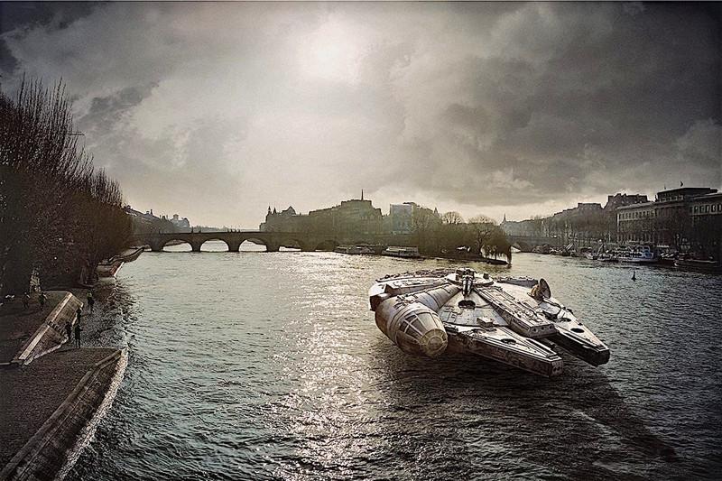 Звездные войны на улицах Парижа (11фото)
