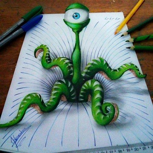 Невероятные 3D-рисунки талантливого художника Жоао Карвальо (19 фото)