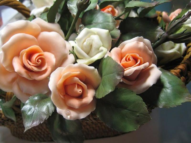 Фарфоровые цветы Владимира Каневского (9фото)