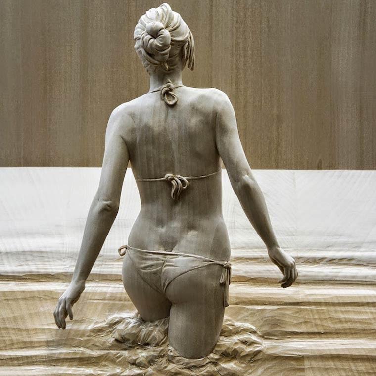 Буратино и не снилось: невероятно реалистичные деревянные скульптуры людей (17фото)