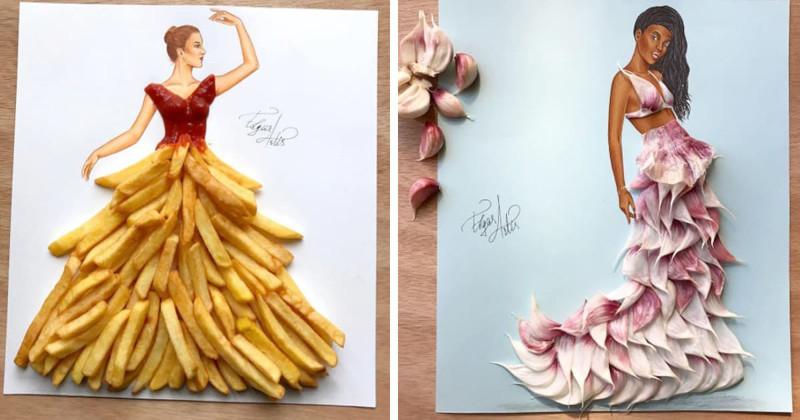 Этот художник публикует в Instagram модные наряды из продуктов (21фото)