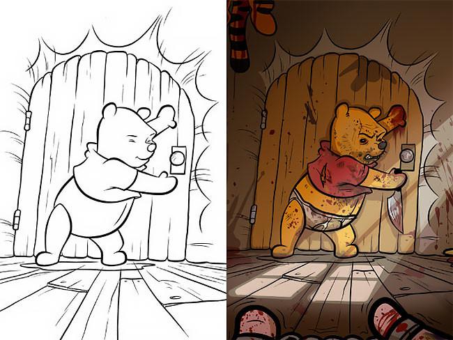 Вот что происходит, когда взрослые берут в руки раскраску для детей (30фото)