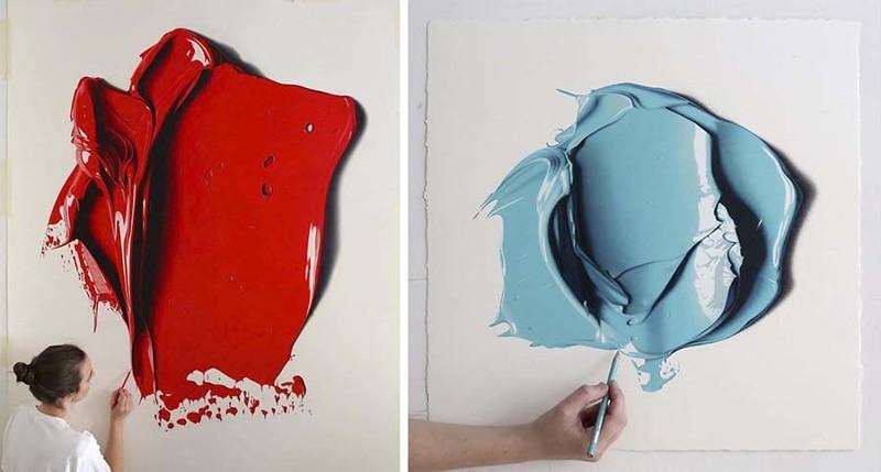 Эти гигантские мазки краски являются рисунками, которые создали с помощью карандашей (9фото)