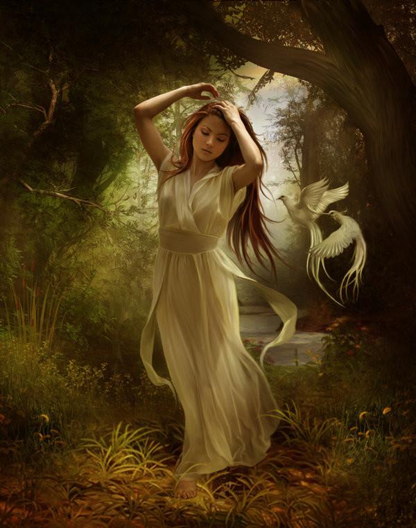 картинки фэнтези фотоарт ангел