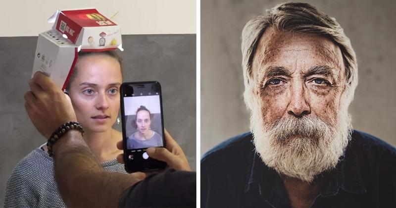 Хитрость фотографа: как сделать профессиональный портрет с помощью смартфона и коробки от бургера (12фото+1видео)
