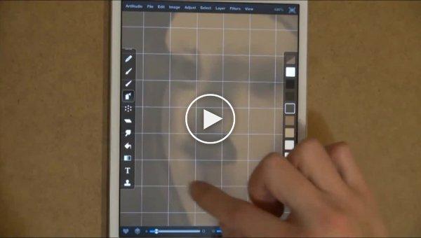 А вот что можно сделать пальцем на iPad. Авторское видение знаменитой картины «Девушка с жемчужной серёжкой»