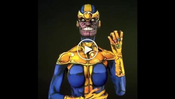 Нарисованные костюмы киногероев от Кей Пайк