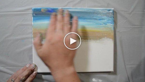 Настоящий художник всегда сможет нарисовать картину даже голыми руками