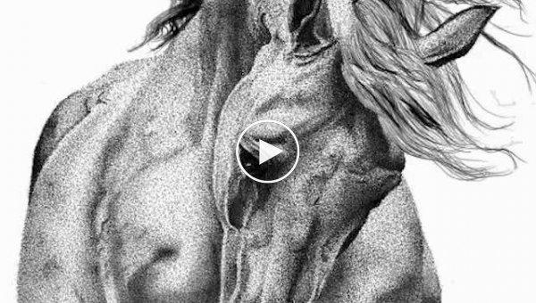 Точечные рисунки из тысяч точек от Юлии Кочевой