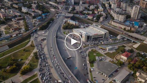 Фотограф показал видео с красивым Новосибирском с высоты