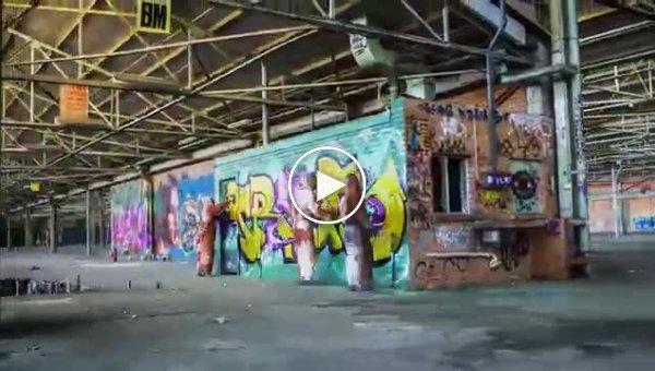 Что получается, когда граффити-художникам дают на растерзание заброшенный ангар и неограниченные запасы краски
