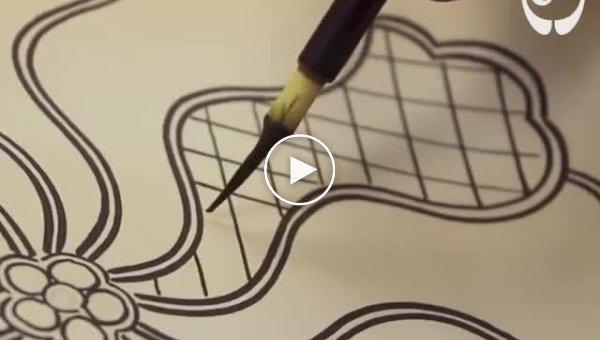 Японское терпение и точность в рисунках Кутани Чоемон