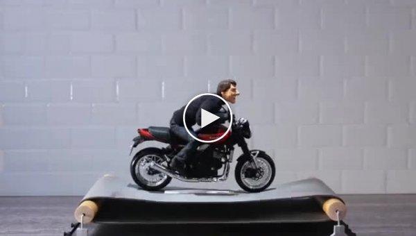 Кукольный аниматор воссоздал трюки Тома Круза из фильмов «Миссия невыполнима»
