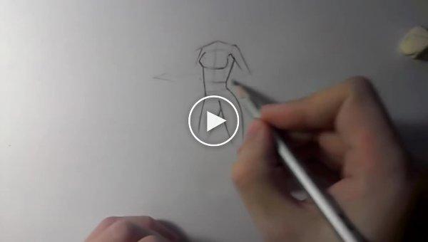 Как нарисовать женское тело аниме