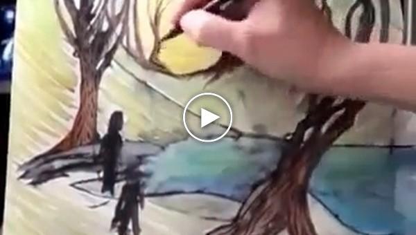 Как превратить детские каракули в произведение искусства