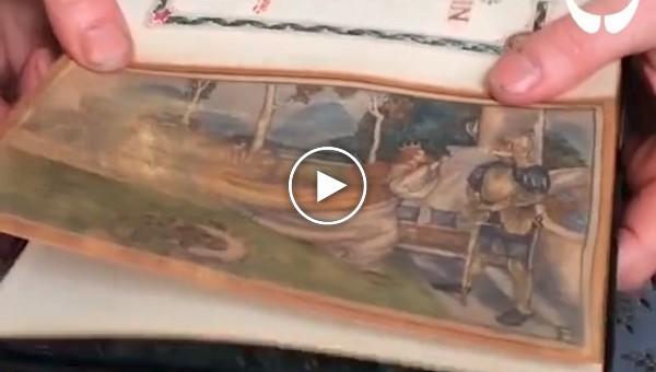 Скрытые картины в старых книгах